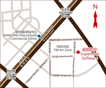 Location Map of SuperMap Head Office